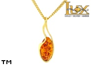 Jewellery GOLD pendant.  Stone: amber. TAG: ; name: GP380; weight: 1.35g.