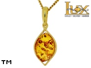 Jewellery GOLD pendant.  Stone: amber. TAG: ; name: GP381; weight: 1.23g.