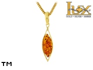 Jewellery GOLD pendant.  Stone: amber. TAG: ; name: GP382; weight: 1.39g.