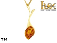 Jewellery GOLD pendant.  Stone: amber. TAG: ; name: GP383; weight: 2.51g.