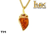 Jewellery GOLD pendant.  Stone: amber. TAG: ; name: GP384; weight: 1.79g.