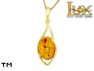 Jewellery GOLD pendant.  Stone: amber. TAG: ; name: GP386; weight: 1.98g.