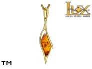 Jewellery GOLD pendant.  Stone: amber. TAG: ; name: GP387; weight: 1.98g.