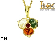 Jewellery GOLD pendant.  Stone: amber. TAG: nature; name: GP388; weight: 2.06g.