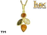 Jewellery GOLD pendant.  Stone: amber. TAG: nature; name: GP391; weight: 2.84g.