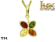 Jewellery GOLD pendant.  Stone: amber. TAG: nature, signs; name: GP392; weight: 2.08g.