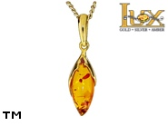 Jewellery GOLD pendant.  Stone: amber. TAG: ; name: GP397; weight: 1.01g.