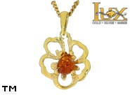Jewellery GOLD pendant.  Stone: amber. TAG: nature; name: GP398; weight: 1.98g.