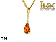 Jewellery GOLD pendant.  Stone: amber. TAG: ; name: GP403; weight: 0.78g.
