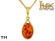 Jewellery GOLD pendant.  Stone: amber. TAG: ; name: GP404; weight: 1.38g.