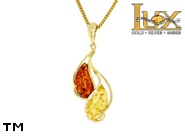 Jewellery GOLD pendant.  Stone: amber. TAG: nature; name: GP422; weight: 0g.