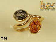 Jewellery GOLD ring.  Stone: amber. TAG: nature; name: GR289; weight: 3.9g.