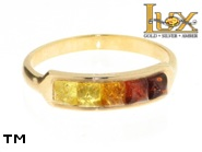 Jewellery GOLD ring.  Stone: amber. TAG: modern; name: GR323; weight: 2.64g.