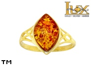 Jewellery GOLD ring.  Stone: amber. TAG: ; name: GR381; weight: 2.59g.
