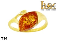 Jewellery GOLD ring.  Stone: amber. TAG: ; name: GR383; weight: 2.86g.