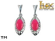 Jewellery SILVER sterling earrings.  Stone: amber. TAG: ; name: KE-B96SW-AF; weight: 3.2g.