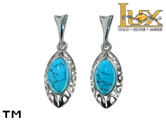Jewellery SILVER sterling earrings.  Stone: turquoise.  TAG: ; name: KE-B96SW-TRR; weight: 3.1g.