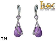 Jewellery SILVER sterling earrings.  Stone: amethyst.  TAG: ; name: KE-C82-AM; weight: 2.4g.