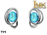 Jewellery SILVER sterling earrings.  Stone: turquoise.  TAG: ; name: KE-D03-TR; weight: 2.1g.