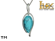 Jewellery SILVER sterling pendant.  Stone: turquoise.  TAG: ; name: KP-B68-TR; weight: 0g.