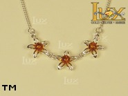 Jewellery SILVER sterling necklace.  Stone: amber. TAG: nature; name: N-391; weight: 5.3g.