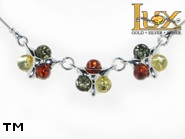 Jewellery SILVER sterling necklace.  Stone: amber. TAG: nature; name: N-690-2; weight: 6.3g.