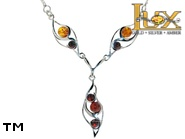 Jewellery SILVER sterling necklace.  Stone: amber. TAG: nature; name: N-A66; weight: 6.5g.