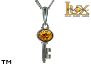 Jewellery SILVER sterling pendant.  Stone: amber. TAG: signs; name: P-347; weight: 1.6g.