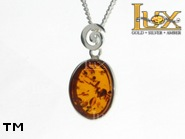 Jewellery SILVER sterling pendant.  Stone: amber. TAG: ; name: P-827; weight: 2.4g.