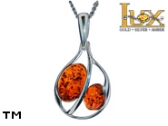 Jewellery SILVER sterling pendant.  Stone: amber. TAG: ; name: P-A16; weight: 2.2g.