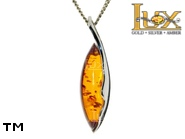 Jewellery SILVER sterling pendant.  Stone: amber. TAG: ; name: P-A37; weight: 2.5g.