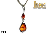 Jewellery SILVER sterling pendant.  Stone: amber. TAG: ; name: P-A57; weight: 1.4g.