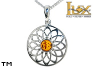 Jewellery SILVER sterling pendant.  Stone: amber. Dreamcatcher. TAG: signs; name: P-D22; weight: 2.3g.