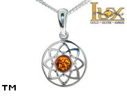 Jewellery SILVER sterling pendant.  Stone: amber. Dreamcatcher. TAG: signs; name: P-D23; weight: 1.3g.