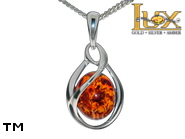 Jewellery SILVER sterling pendant.  Stone: amber. TAG: ; name: P-D31; weight: 2.2g.
