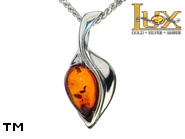 Jewellery SILVER sterling pendant.  Stone: amber. TAG: nature; name: P-D51; weight: 1.4g.