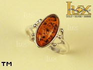 Jewellery SILVER sterling ring.  Stone: amber. TAG: ; name: R-204; weight: 2.4g.