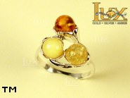 Jewellery SILVER sterling ring.  Stone: amber. TAG: nature; name: R-631; weight: 3.6g.