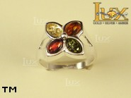 Jewellery SILVER sterling ring.  Stone: amber. TAG: nature, modern; name: R-689; weight: 4.5g.