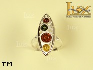 Jewellery SILVER sterling ring.  Stone: amber. TAG: modern; name: R-700; weight: 4.4g.