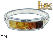 Jewellery SILVER sterling ring.  Stone: amber. TAG: modern; name: R-735; weight: 2.9g.