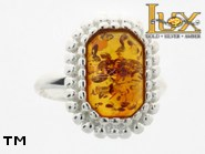 Jewellery SILVER sterling ring.  Stone: amber. TAG: modern, clasic; name: R-761; weight: 4.1g.
