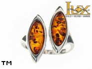 Jewellery SILVER sterling ring.  Stone: amber. TAG: modern; name: R-771; weight: 4g.