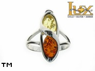 Jewellery SILVER sterling ring.  Stone: amber. TAG: ; name: R-840; weight: 3.9g.