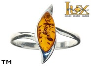 Jewellery SILVER sterling ring.  Stone: amber. TAG: ; name: R-882; weight: 2.4g.