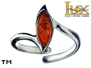 Jewellery SILVER sterling ring.  Stone: amber. TAG: ; name: R-882J; weight: 2.95g.