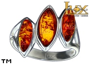 Jewellery SILVER sterling ring.  Stone: amber. TAG: ; name: R-938; weight: 3.8g.