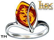 Jewellery SILVER sterling ring.  Stone: amber. TAG: ; name: R-942; weight: 2.8g.