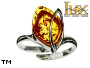 Jewellery SILVER sterling ring.  Stone: amber. TAG: ; name: R-942J; weight: 3.1g.