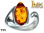 Jewellery SILVER sterling ring.  Stone: amber. TAG: ; name: R-946J; weight: 4.5g.